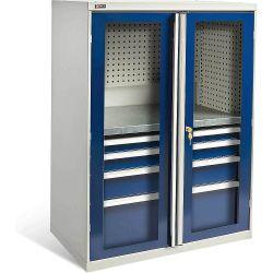 Диком 13.0130-011+13.0132-016. Шкаф ВС-053 с дверьми с окнами (без наполнения), 1400x1050x625 мм